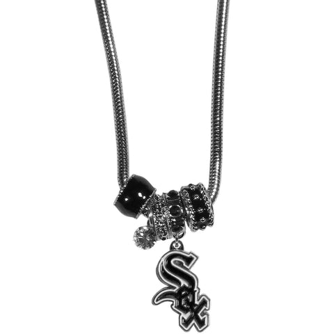Chicago White Sox Euro Bead Necklace