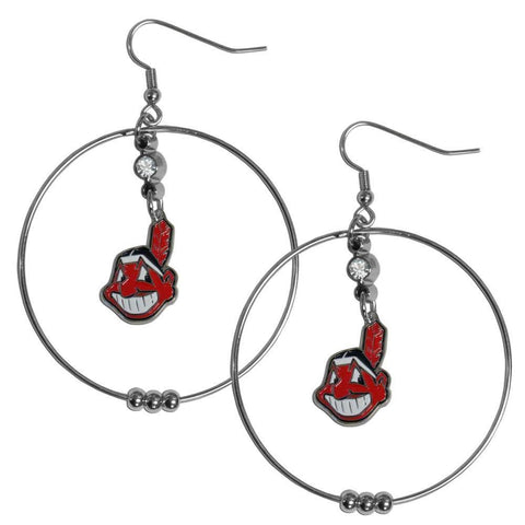 Cleveland Indians 2 Inch Hoop Earrings