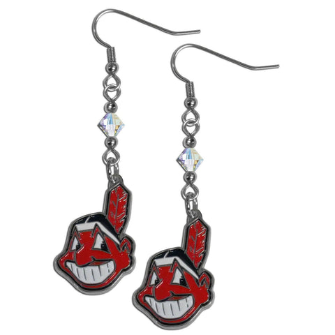 Cleveland Indians Crystal Dangle Earrings