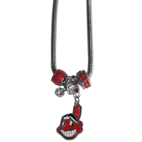 Cleveland Indians Euro Bead Necklace
