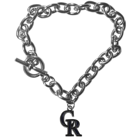 Colorado Rockies Charm Chain Bracelet