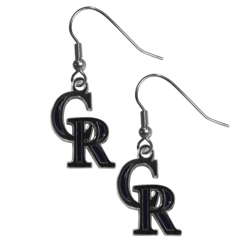 Colorado Rockies Chrome Dangle Earrings