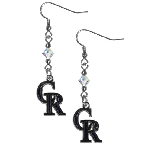 Colorado Rockies Crystal Dangle Earrings
