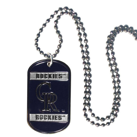 Colorado Rockies Tag Necklace