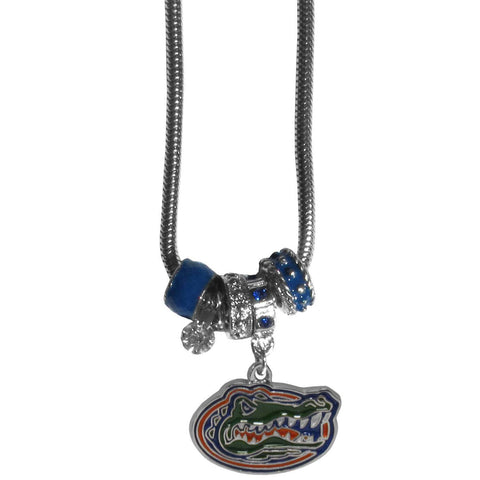 Euro Bead Necklace - Florida Gators Euro Bead Necklace