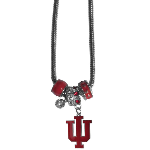 Euro Bead Necklace - Indiana Hoosiers Euro Bead Necklace  In Stock