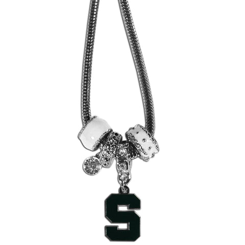 Euro Bead Necklace - Michigan St. Spartans Euro Bead Necklace