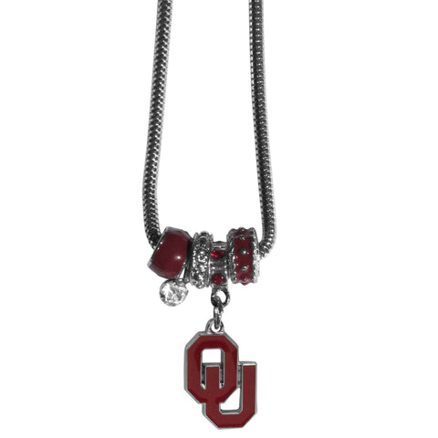 Euro Bead Necklace - Oklahoma Sooners Euro Bead Necklace