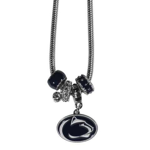 Euro Bead Necklace - Penn St. Nittany Lions Euro Bead Necklace