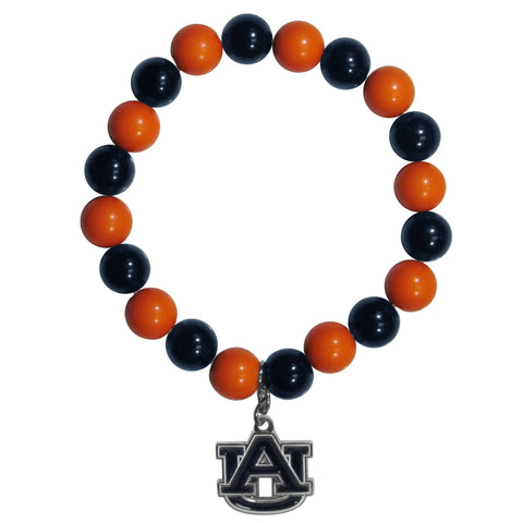 Fan Bead Bracelet - Auburn Tigers Fan Bead Bracelet