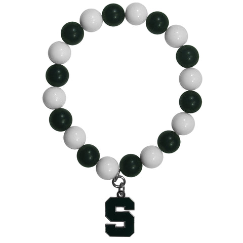 Fan Bead Bracelet - Michigan St. Spartans Fan Bead Bracelet