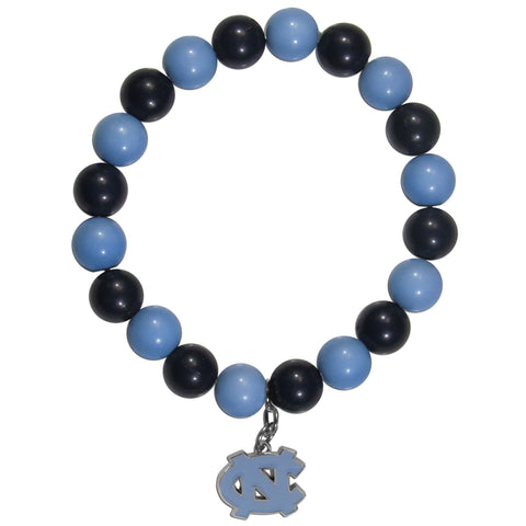 Fan Bead Bracelet - N. Carolina Tar Heels Fan Bead Bracelet