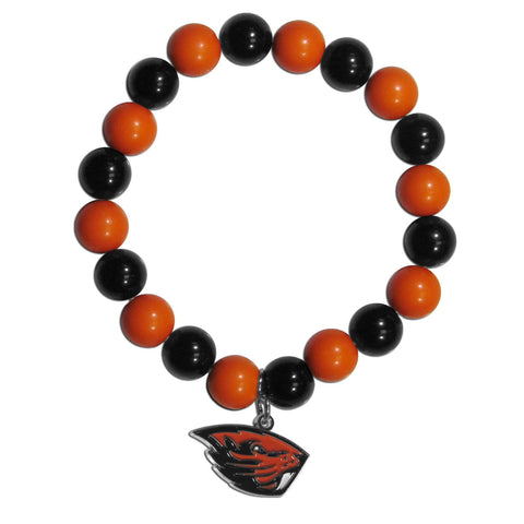 Fan Bead Bracelet - Oregon St. Beavers Fan Bead Bracelet