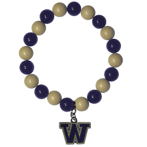 Fan Bead Bracelet - Washington Huskies Fan Bead Bracelet