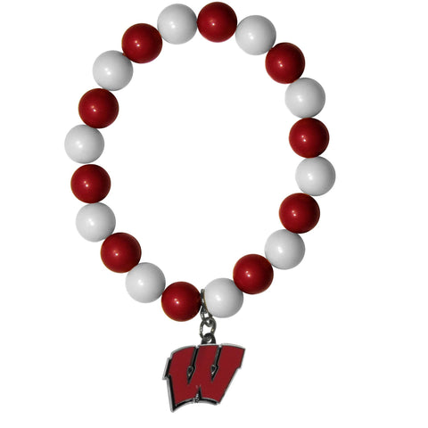 Fan Bead Bracelet - Wisconsin Badgers Fan Bead Bracelet