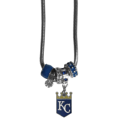 Kansas City Royals Euro Bead Necklace