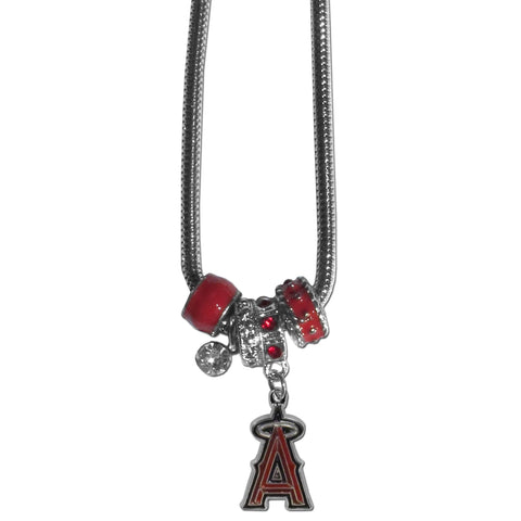 Los Angeles Angels Euro Bead Necklace