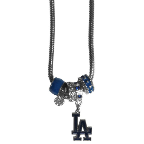 Los Angeles Dodgers Euro Bead Necklace