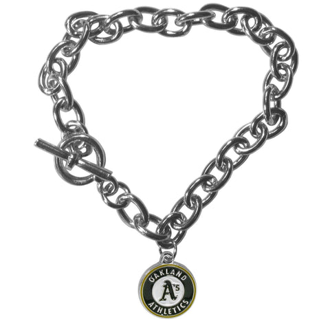 Oakland Athletics Charm Chain Bracelet