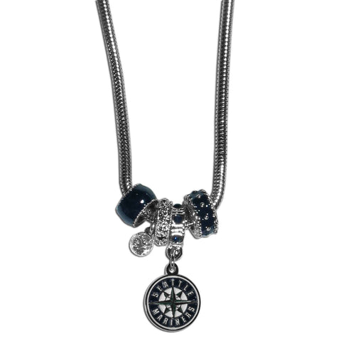 Seattle Mariners Euro Bead Necklace