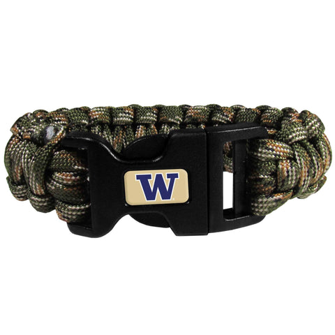 Survivor Bracelet - Washington Huskies Camo Survivor Bracelet