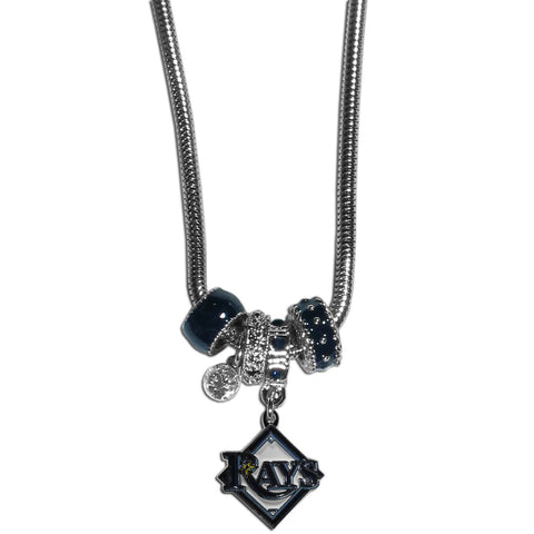 Tampa Bay Rays Euro Bead Necklace