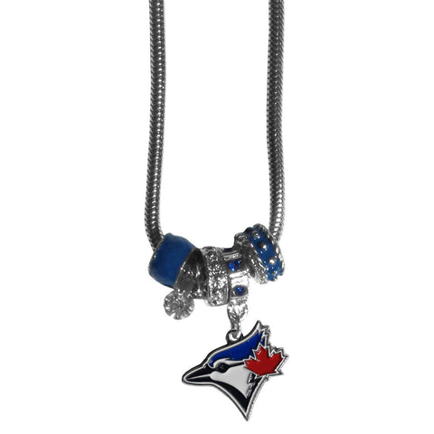 Toronto Blue Jays Euro Bead Necklace