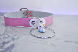 Pink Kitty Bell collar