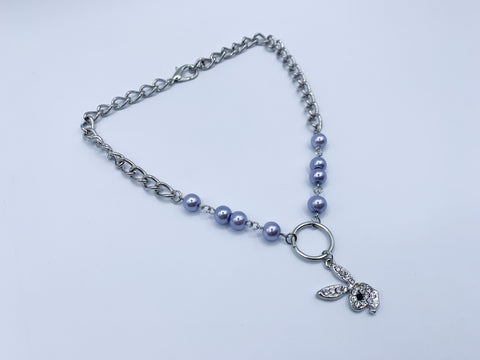 Blue PlayAngel Pearl necklace