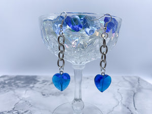 Deep Blue Hardcore Love earrings