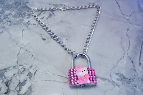 Kitty Diamond Lock necklace
