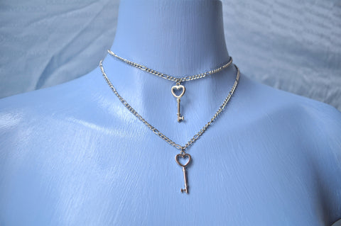 Heart Key chain choker