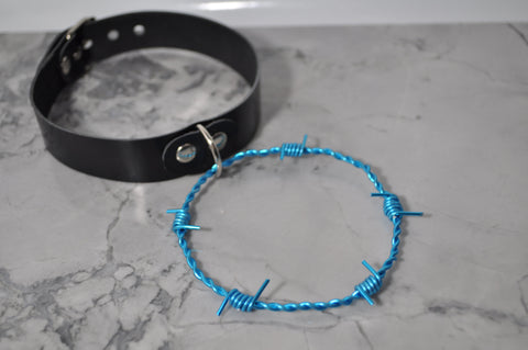 Blue Barb Wire collar