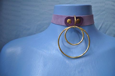 Pastel Purple Goldie collar