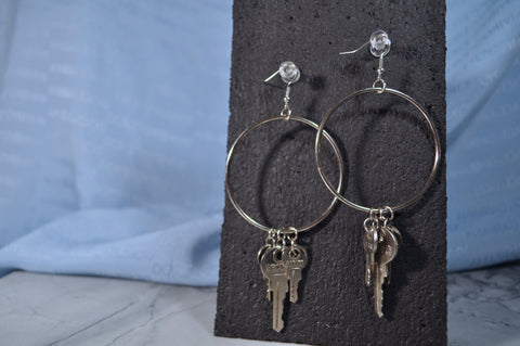 Key Hoop earrings
