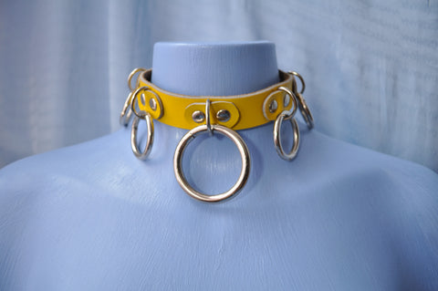 Yellow Dominatrix collar