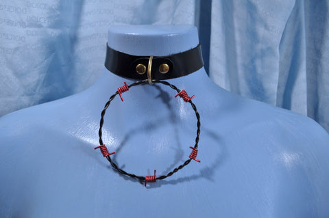 Black & Red Barb Wire collar