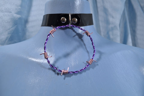Purple & Pink Barb Wire collar