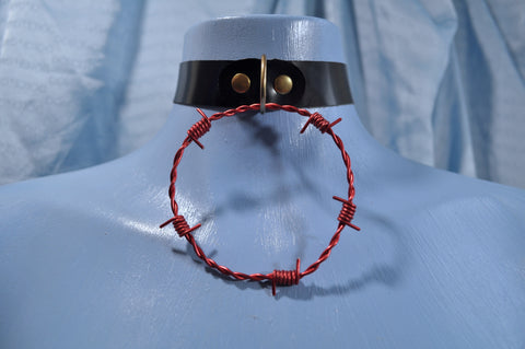 Red Barb Wire collar