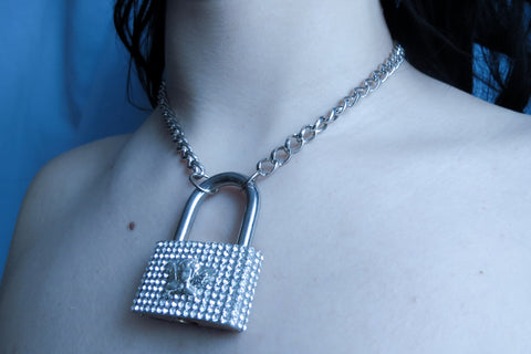 Diamond Lock necklace