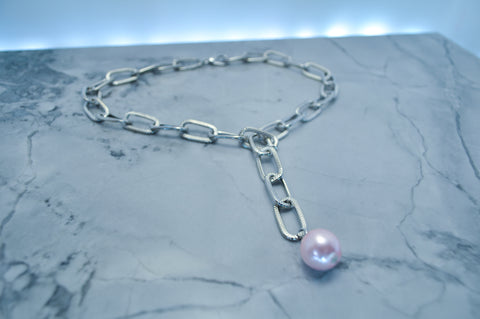 Pink Enchanted Pearl necklace