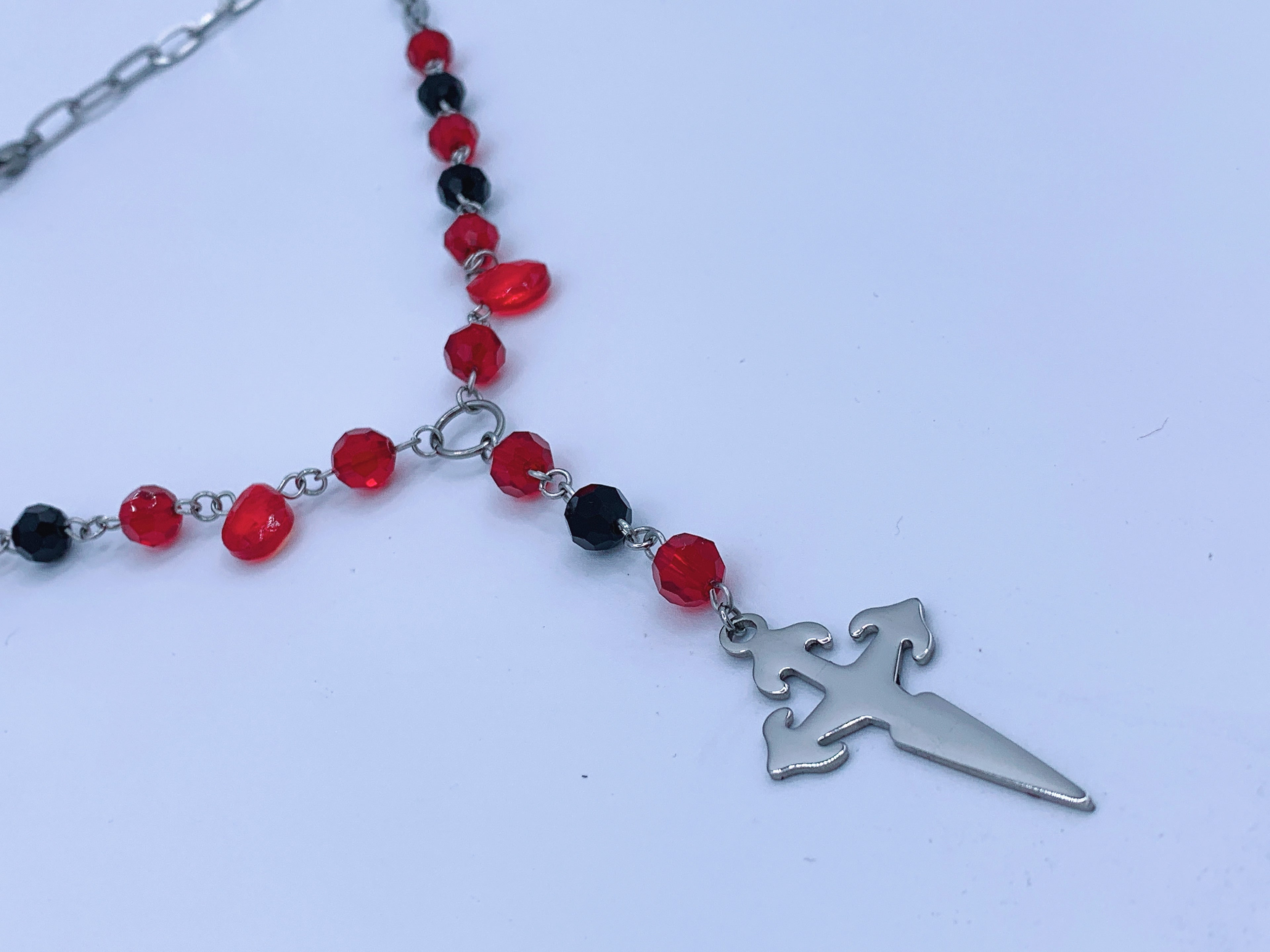 Vampira rosary necklace