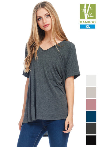 Tanboocel Bamboo Loose Fit Tunic Tops 24052