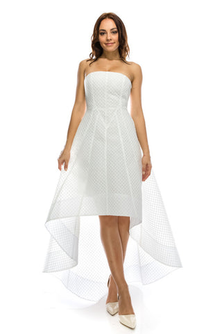 Cocktail Prom Party Dress White Tube Dress 71045