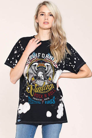 California Word Tee Eagle Graphic Shirts 24429