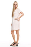 Womens Tanboocel Bamboo Dress Solid Short Sleeve 62115