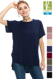 Womens Tanboocel Bamboo Short Sleeve Tops 24042-2