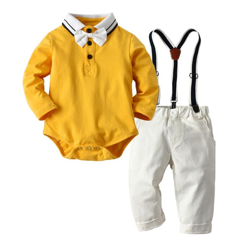 Baby Boy 2 Piece Gentleman Set (Mustard)