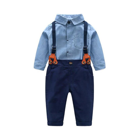 Baby Boy 2-piece Gentleman Set (Blue)