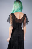 Black Lace Sheer Dress - Embers / Cinders Vintage
